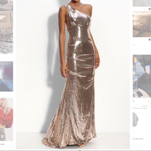 Nicole Miller Dresses | Sequin Evening Gown | Poshmark